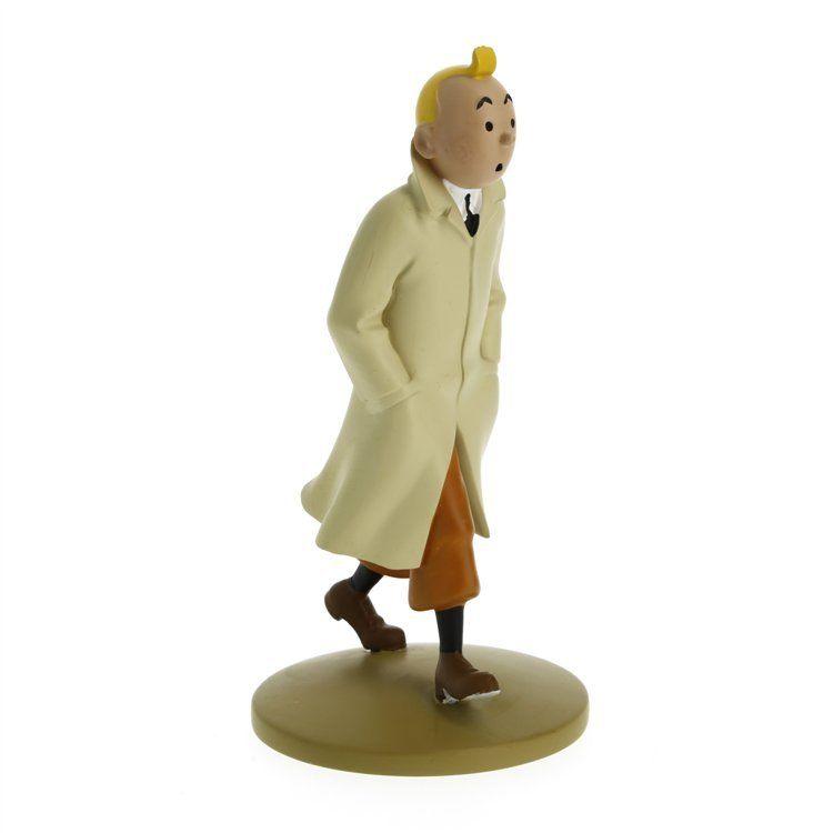 TIM & STRUPPI Tintin im Trenchcoat Figur MOULINSART ca.12cm NEU (L)*