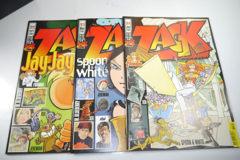 ZACK Comic Mosaik Jahrg. 2001  komplett mit Schuber   Z: sehr gut  (MF23) 2