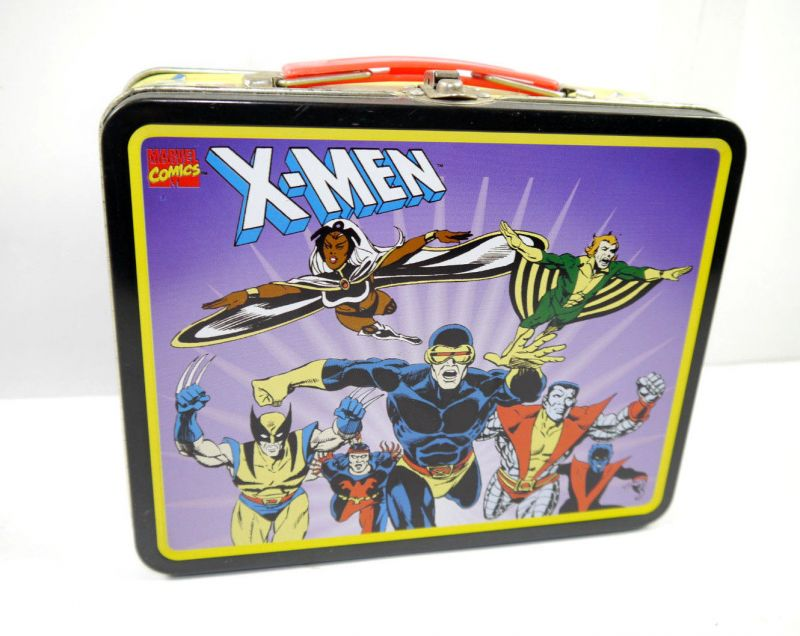 Marvel X-MEN Brotdose Lunchbox Blech Comic Wolverine Storm retro 19x16 (L)