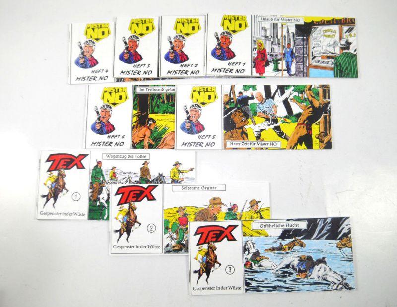 TEX Nr. 1 2 3 + MISTER NO Nr. 1 2 3 4 5 6 Comic Piccolo HOBBY NOSTALGIE (K90)