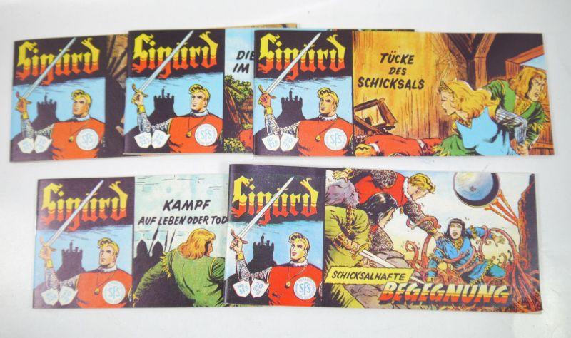 SIGURD Heft 321 - 325 Comic Piccolo ( 1982 ) HETHKE Nachdruck (K90)