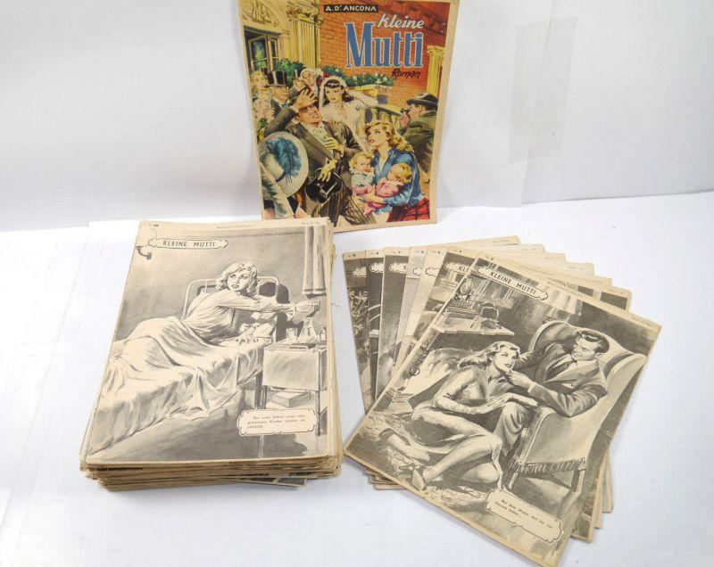 KLEINE MUTTI 72 Hefte Romanheft Wochenschrift MODERNE ILLUSTRIERTE 50er (WR1)
