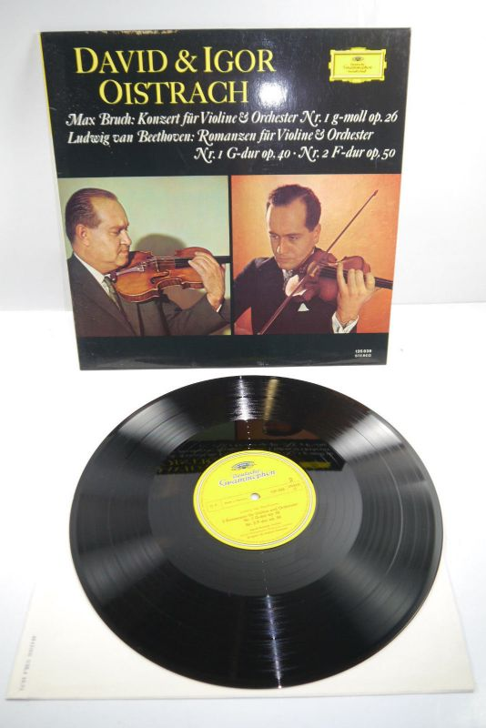 David & Igor Oistrach Max Bruch Ludwig van Beethoven Stereo Schallplatte ( WR2 ) 1