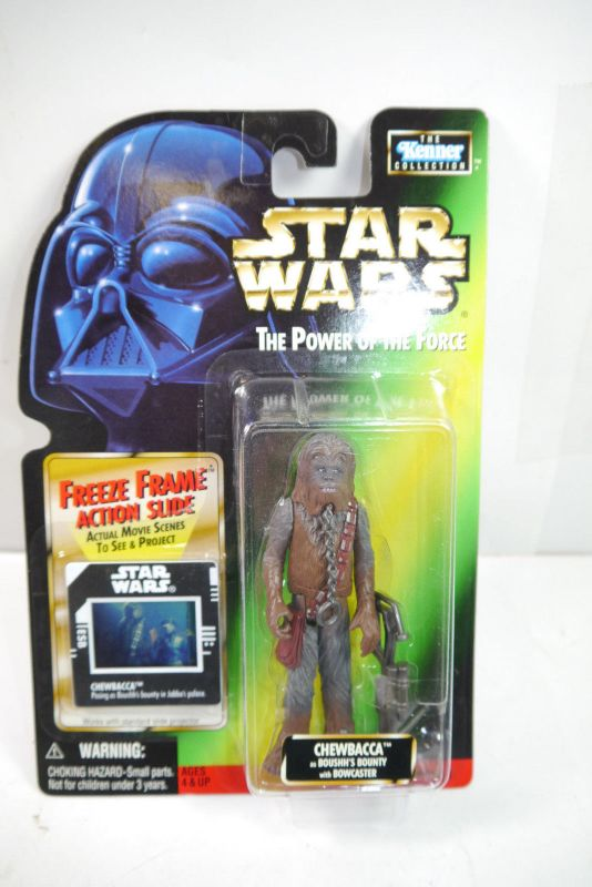 STAR WARS Power of the Force  Chewbacca Bowcaster KENNER Neu (LR18)