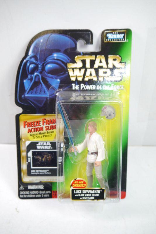 STAR WARS Power of the Force  Luke Skywalker mit Lichtschwert KENNER Neu (LR18)