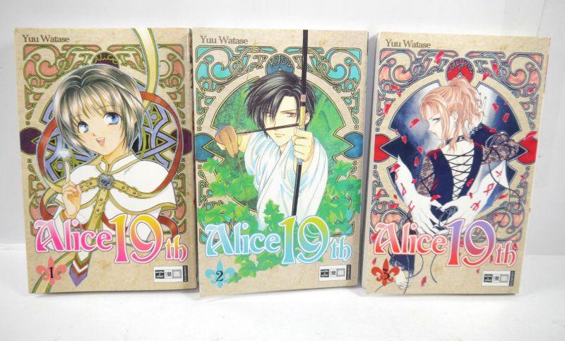 ALICE 19TH Band 1 2 3 Manga Yuu Watase EGMONT EMA (MF13)
