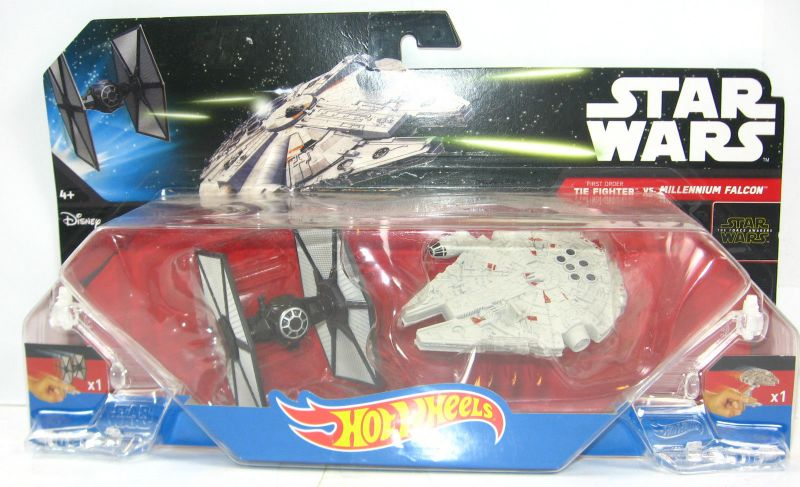 STAR WARS Rebels - Tie Fighter vs. Millenium Falcon die cast HOT WHEELS Neu LR8