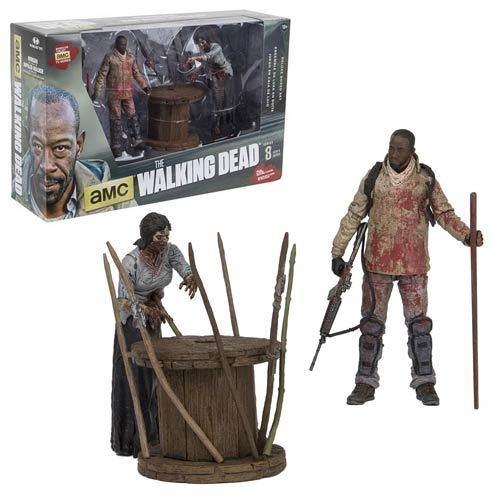 WALKING DEAD Morgan & Impaled Walker Actionfigur Deluxe Box McFARLANE Neu KB *