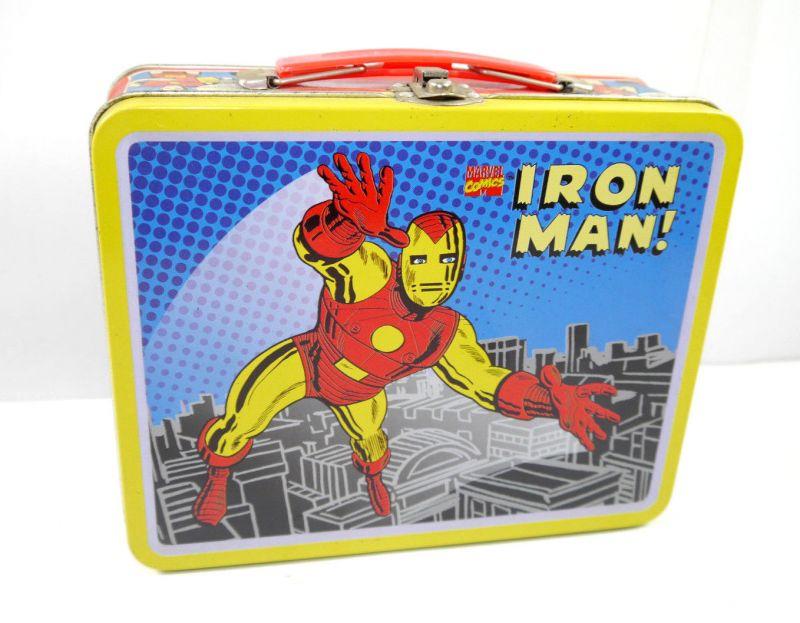 Marvel IRON MAN Tony Stark Brotdose Lunchbox Blech Comic retro 19x16 (L)
