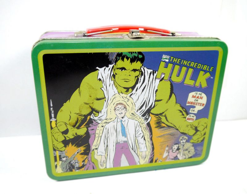 Marvel INCREDIBLE HULK Brotdose Lunchbox Blech Comic retro 19x16 (L)