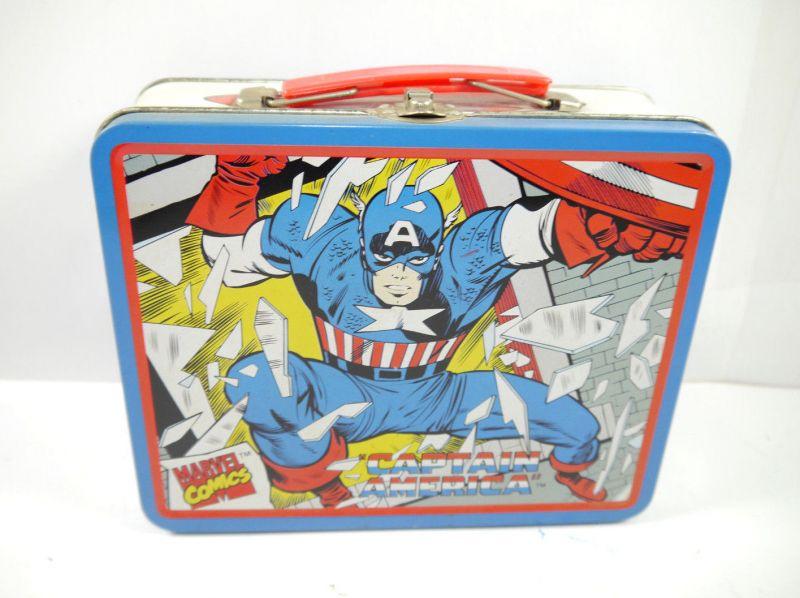 Marvel CAPTAIN AMERICA Brotdose Lunchbox Blech Comic retro 19x16 (L)