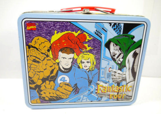 Marvel FANTASTIC FOUR Fantastischen 4 - Brotdose Lunchbox Blech retro 19x16 (L)