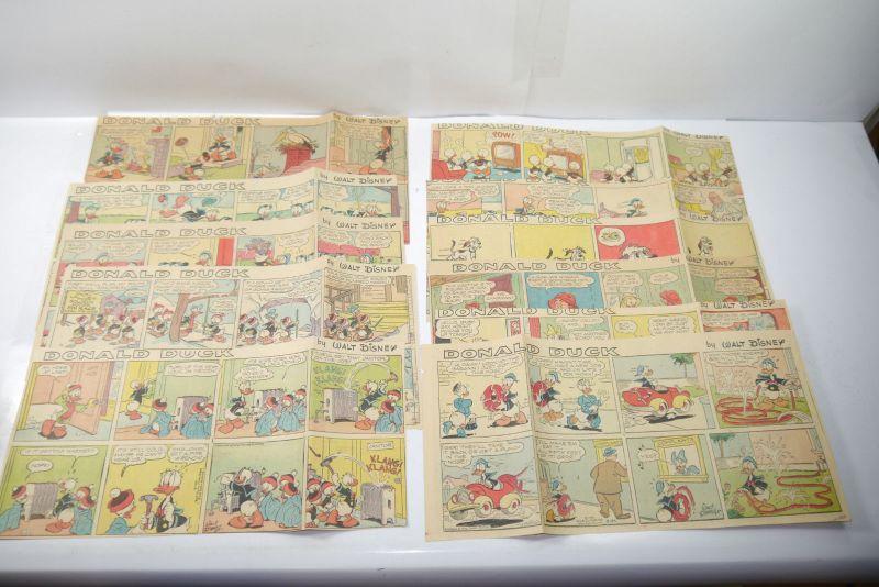 Walt Disney DONALD DUCK Newspaper 11 Comic Strip´s von 1959  halbe Seiten (WR3)E
