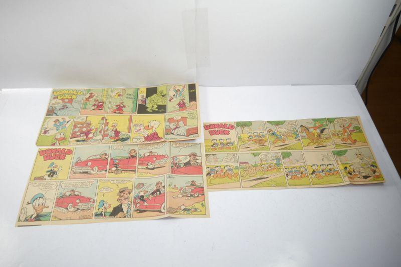 Walt Disney DONALD DUCK Newspaper 3 Comic Strip´s von 1955  halbe Seiten (WR3)D