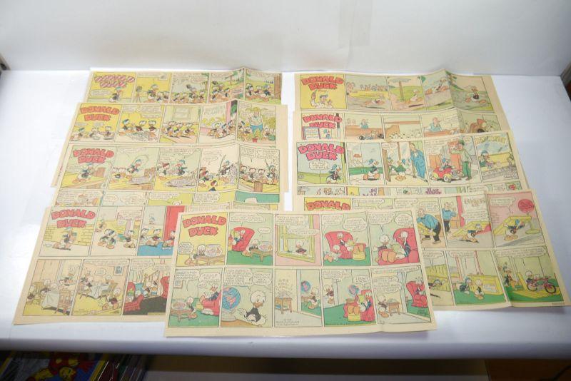Walt Disney DONALD DUCK Newspaper 9 Comic Strip´s ´56 Jahre halbe Seiten (WR3)B