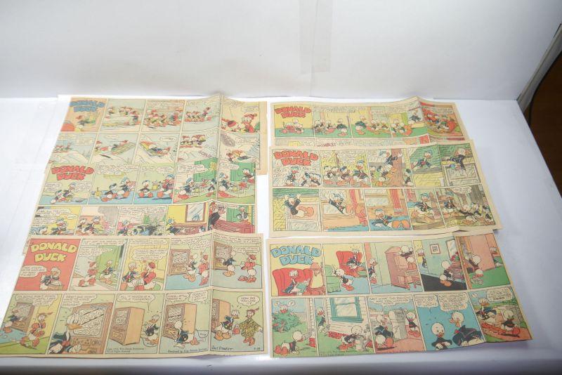Walt Disney DONALD DUCK Newspaper  6 Comic Strip´s ´50 Jahre halbe Seiten (WR3)A