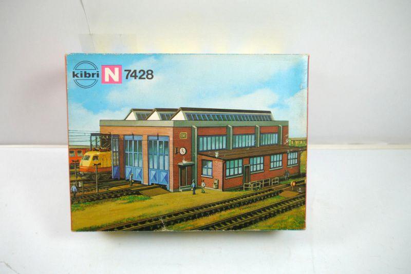 KIBRI 7428 Lokschuppen dreiständig Gebäude Plastik Modellbausatz Spur N Neu K47