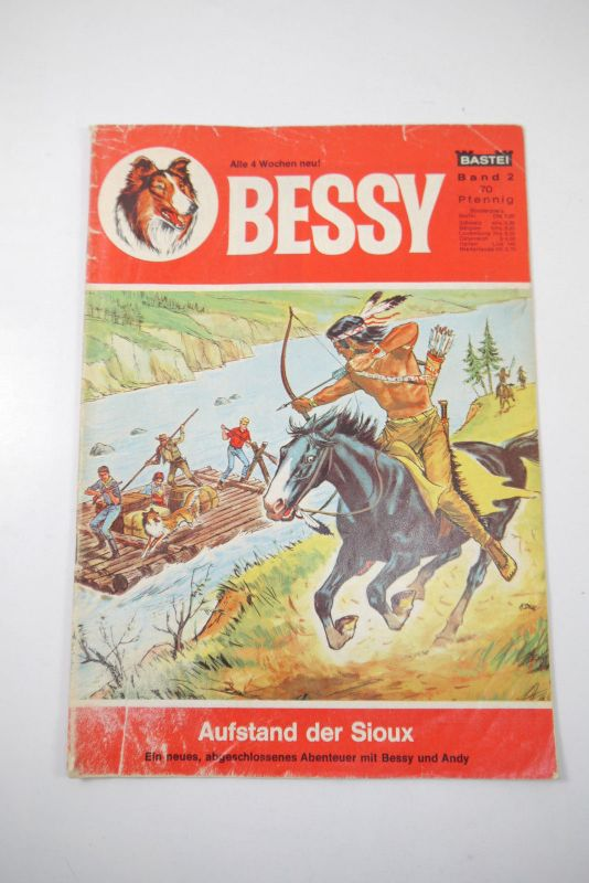 Bessy Nr. 2  Aufstand der Sioux  1. Auflage   Bastei  Zustand :3  ( MF4 )
