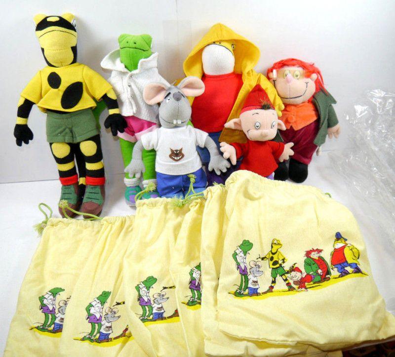 Lurchi & seine Freunde 6 Salamander Plüschtier Stofftier plush Werbefigur K26 *