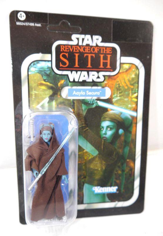 STAR WARS Revenge of the Sith - VC58 Aayla Secura VINTAGE Hasbro Neu (LR30)