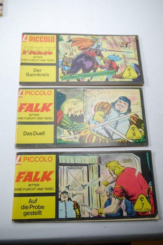 FALK Ritter ohne Furcht & Tadel Heft Piccolo 2 + 6 + 7 Lehning 0,40 Pf   ( K90)