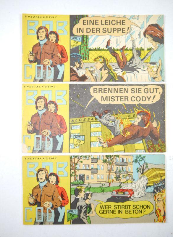 BOB CODY Heft 1 2 3 Piccolo Komplett BANGRO-COMIC-TEAM (K92)