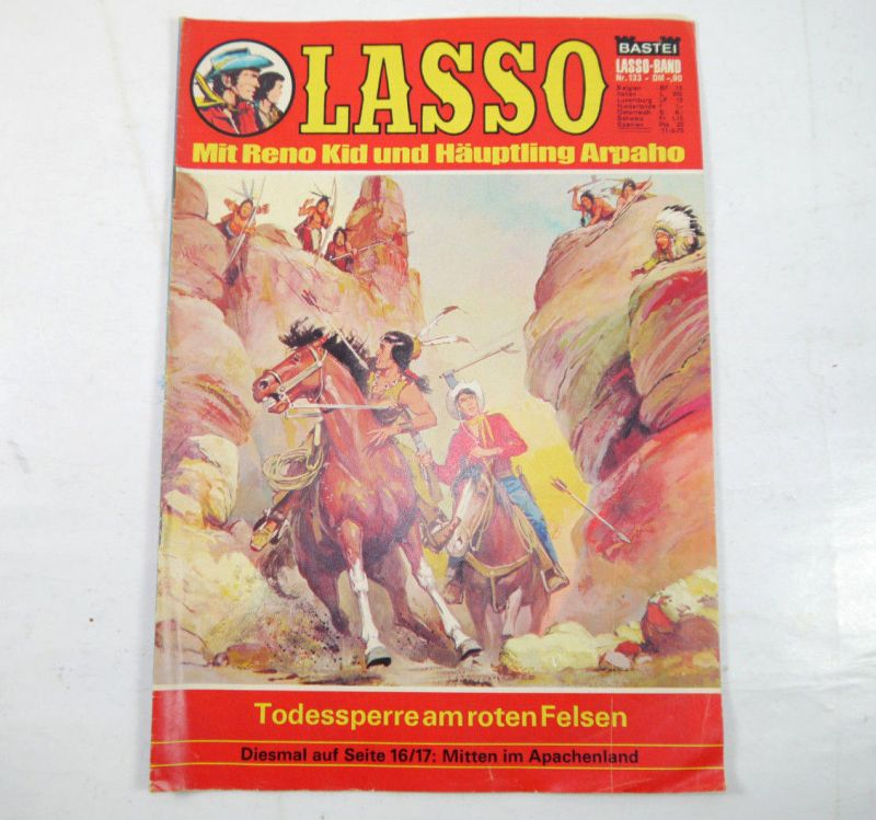 LASSO Heft 133 - Todessperre am roten Felsen Comic BASTEI (MF8)