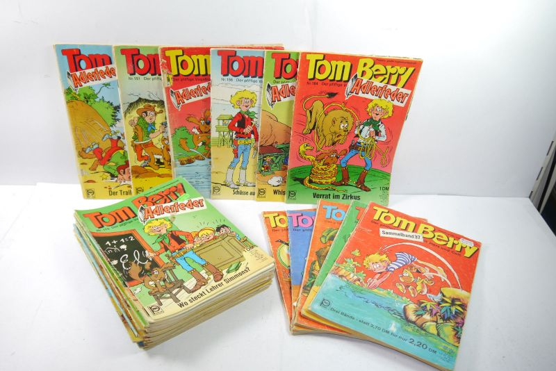 Tom Berry 37 Hefte ab Nr. 150 bis 217 + 5 Sammelbände Pabel Z: 2-4    (MF22)