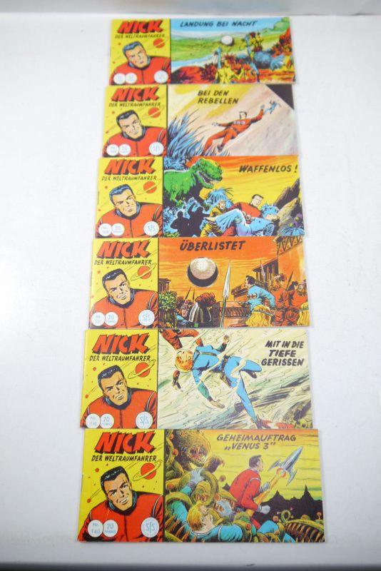 Nick der Weltraumfahrer 6 Piccolos Hefte Hethke  Z : 2  K90