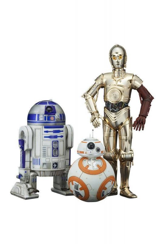 STAR WARS Episode VII : C-3PO + R2-D2 + BB-8 Figur Set KOTOBUKIYA 1/10 Neu (L)