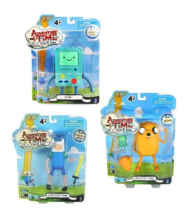 ADVENTURE TIME 3er Actionfigur Set : Beemo B-mo Jake Finn JAZWARES Neu (KB) *