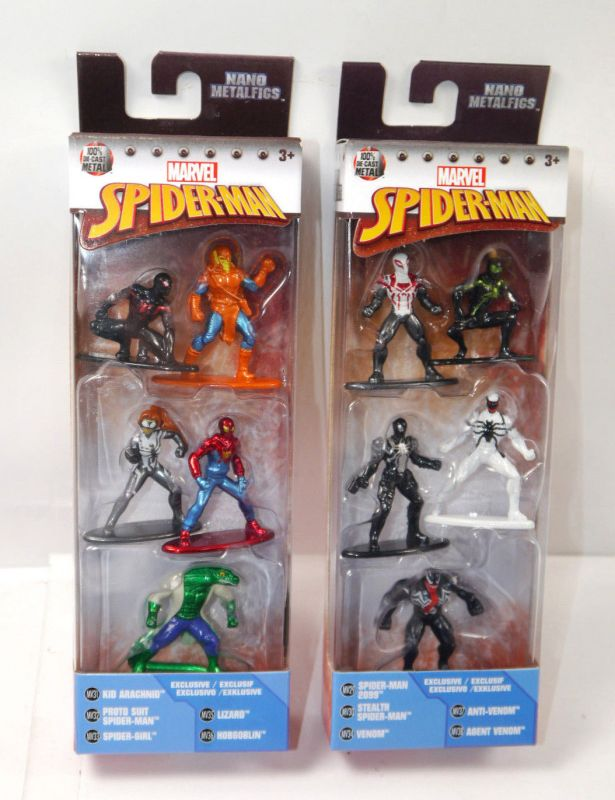 MARVEL Nano - SPIDER-MAN 6er Set Metalfigs Diecast Venom JADA Neu (KB) *