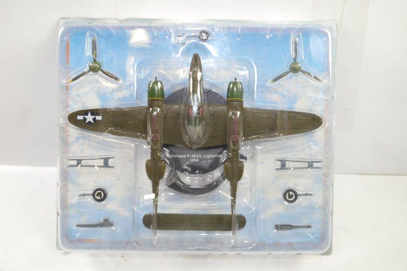 Atlas  Lockheed P-38J/L Lightning USA  1:144 Metall Standmodell  (K43)