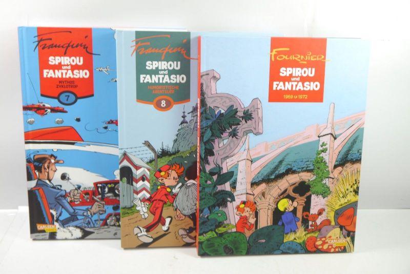 Spirou und Fantasio Band  7 8 9  Carlsen Comic  HC  1.Auflage   Z : 1 (L)
