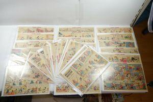 Walt Disney Mickey Mouse  Newspaper 31 Comic Strip´s RAR  halbe Seiten (WR9G