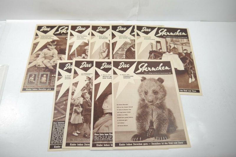 Das Sternchen Beilage zum Stern 9 Hefte von 1955 Zustand : 1-2   (WR3)