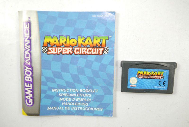 MARIO KART Super Circuit Spiel GAME BOY ADVANCE mit Spielanleitung (K85)