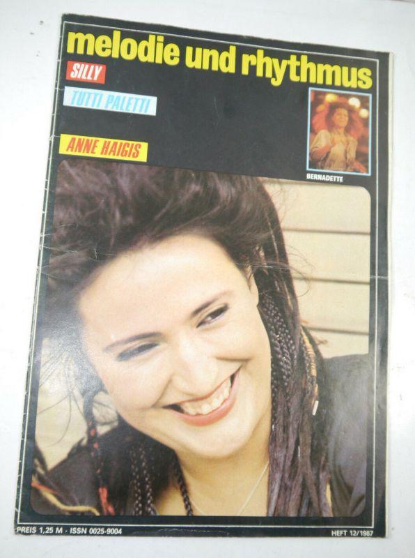 MELODIE UND RYTHMUS Heft 12/1987 Zeitschrift Magazin / Silly Tutti Paletti (WR7)