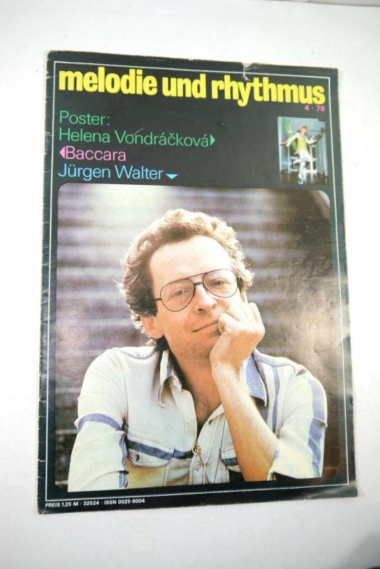 MELODIE UND RYTHMUS Heft 04/1978 Zeitschrift Magazin Baccara Jürgen Walter (WR7)