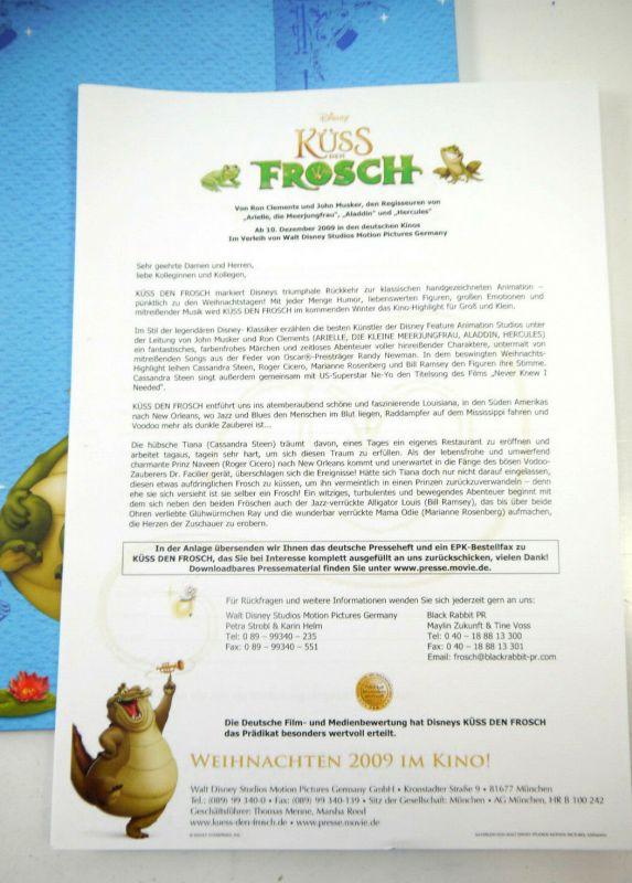 Disney KÜSS DEN FROSCH Princess & the Frog Presseinformation / Pressemappe (WR8) 2