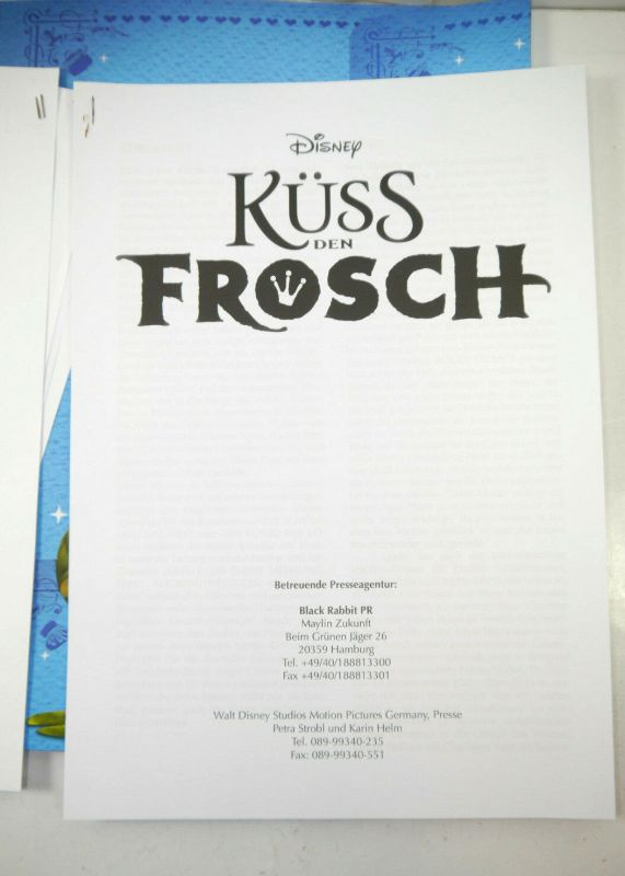 Disney KÜSS DEN FROSCH Princess & the Frog Presseinformation / Pressemappe (WR8) 4