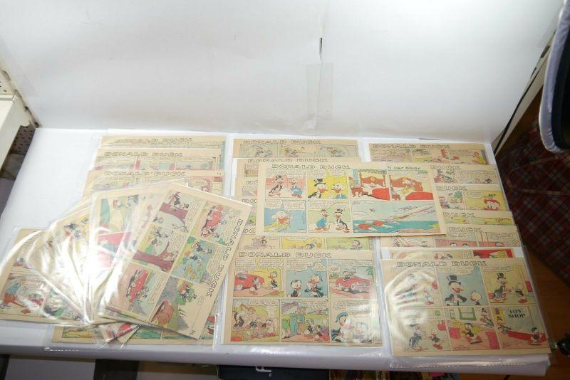 Walt Disney Donald Duck  Newspaper 28 Comic Strip´s von 1965  halbe Seiten (WR9D