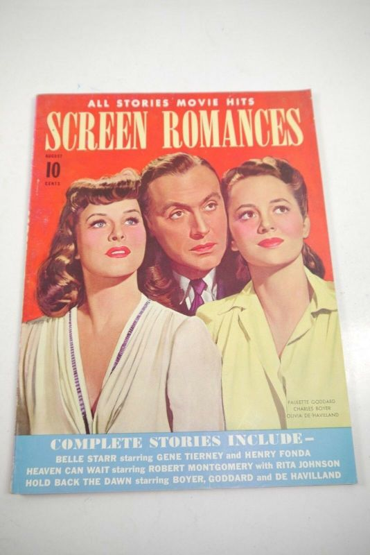 Screen Romances August 1941 Magazin  Zustand : 2   (WR4)