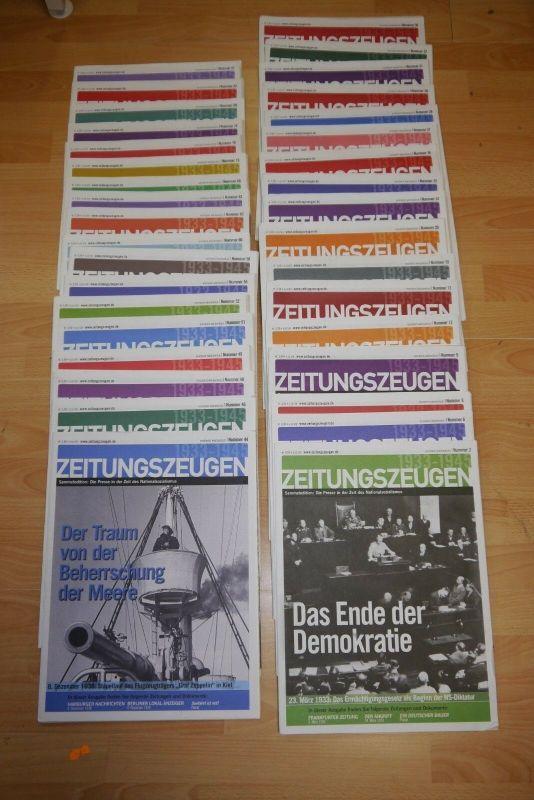 Zeitungszeugen Sammeledition Nachdruck 35 X Heft Presse  Nationalsozialismus F29