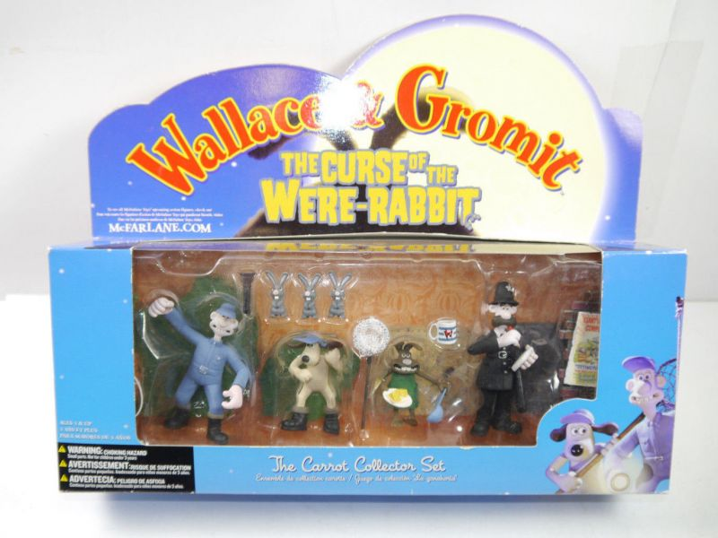 WALLACE & GROMIT Curse of the Were-Rabbit : Carrot Collector Set McFARLANE (L)
