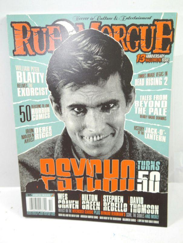 RUE MORGUE 13th Anniversary Halloween Heft 105 Magazin HORROR Psycho (WR8)