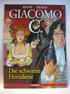 Giacomo C.   3   Die schwarze Herzdame Comic Comicplus+   Zustand : 0-1 (L)