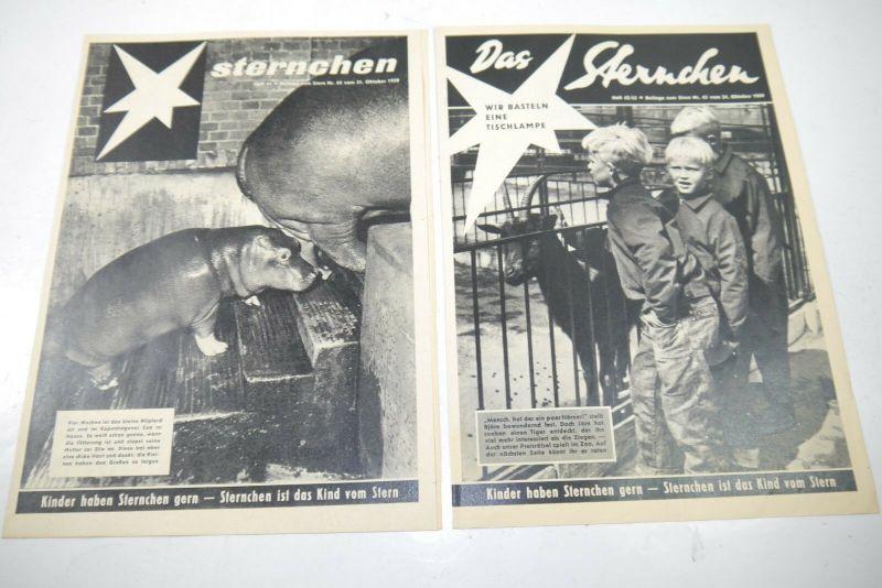 Das Sternchen Beilage zum Stern 2 Hefte von 1959  Zustand : 1-2   (WR3)