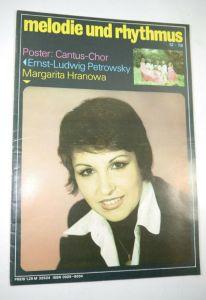 MELODIE UND RYTHMUS Heft 12/1978 Zeitschrift Magazin / Cantus Chor (WR7)