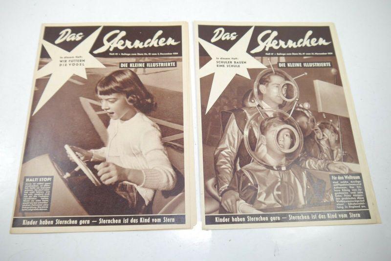 Das Sternchen Beilage zum Stern 2 Hefte von 1954  Zustand : 1-2   (WR3)